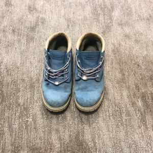 Timberland baby blue Suede Low top boots